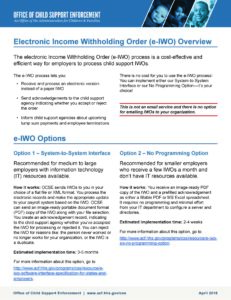 Electronic Income Withholding Orders
