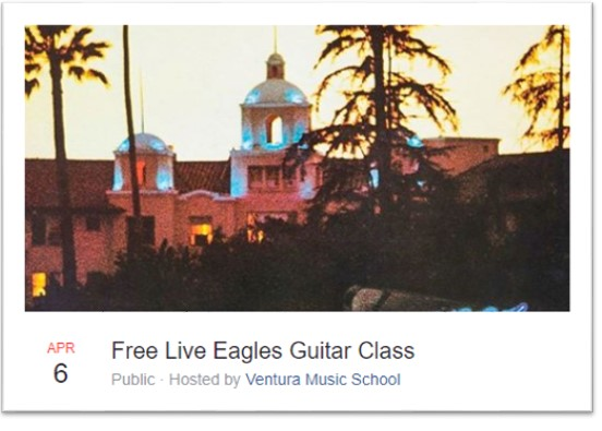 Free Live Eagles Guitar Class