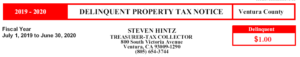 Delinquent Tax Notice