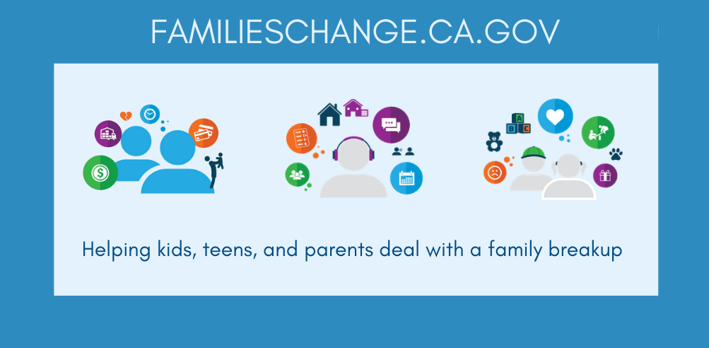 FAMILIESCHANGE.CA.GOV Helping kids, teens, and parents deal with a family breakup